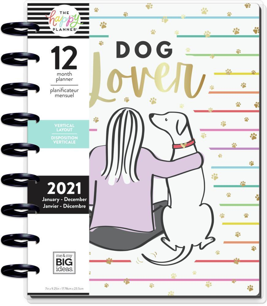 2021 Dog Lover Classic Vertical Happy Planner. Image via Happy Planner.