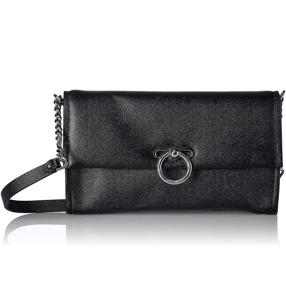 "<p><strong>Rebecca Minkoff</strong></p><p>amazon.com</p><p><strong>$68.70</strong></p><p><a href=""https://www.amazon.com/dp/B07Q3YK5BD?tag=syn-yahoo-20&ascsubtag=%5Bartid%7C10049.g.34329922%5Bsrc%7Cyahoo-us"" rel=""nofollow noopener"" target=""_blank"" data-ylk=""slk:Shop Now"" class=""link rapid-noclick-resp"">Shop Now</a></p><p>Found: A little black bag that goes with everything. </p>"