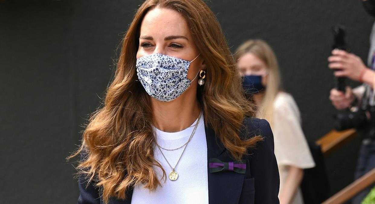 The Duchess of Cambridge arrived at Wimbledon on Friday. (Getty Images)