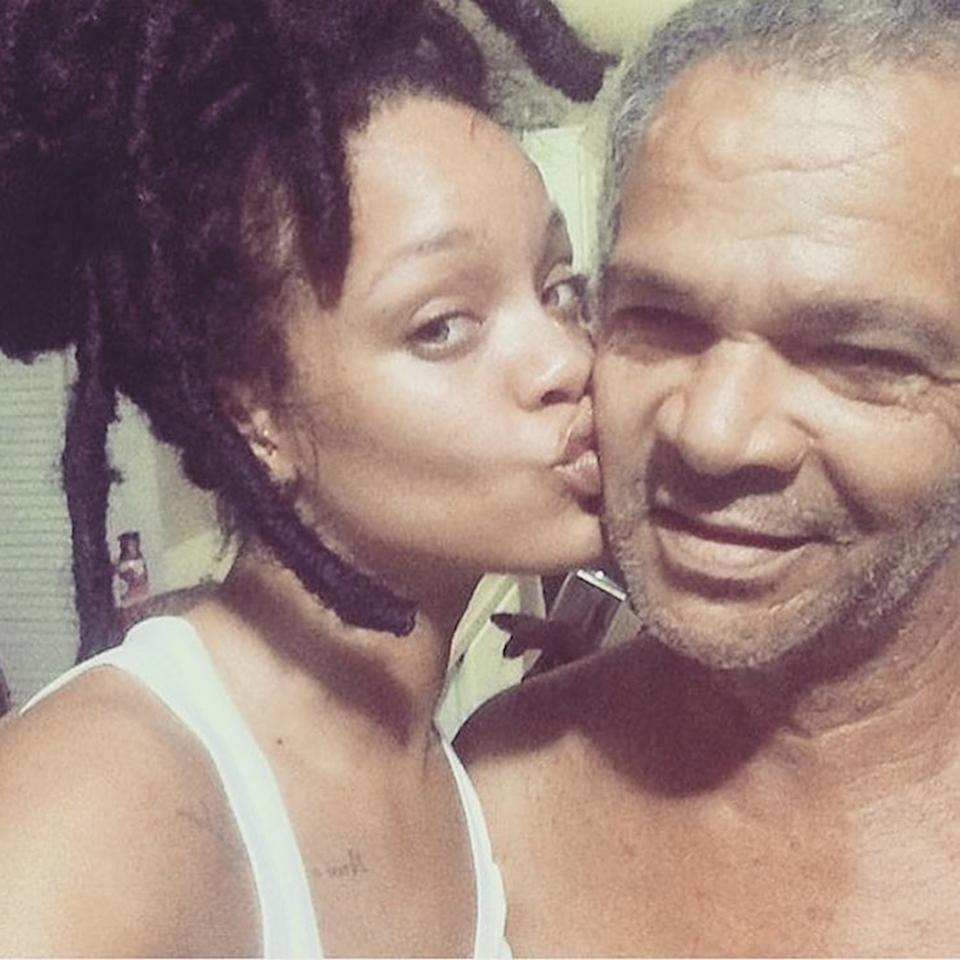 """<p>For the sheer joy seen on Rihanna's face during her trip home to Barbados in the midst of reports of a possible breakup with Drake. What could be cuter than this series of pics of her kissing and hugging her father? It's clear that Ronald Fenty will always be the No. 1 man in RiRi's life. (Photo: <a rel=""""nofollow"""" href=""""https://www.instagram.com/p/BLfmydUDyOw/?taken-by=badgalriri"""">Instagram</a>) </p>"""