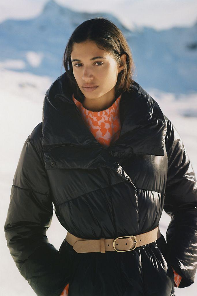 Mariska Faux Leather Puffer Coat. Image via Anthropologie