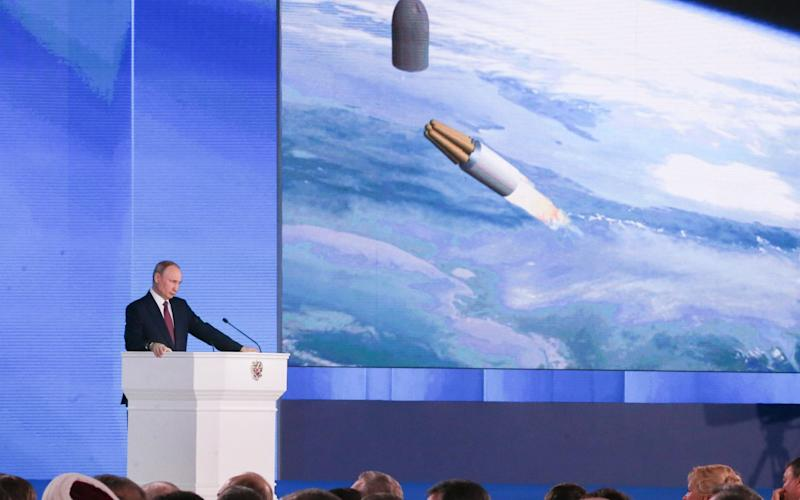 Vladimir Putin announces new nuclear weapons including a nuclear-powered cruise missile at his state-of-the-nation speech on March 1 - TASS