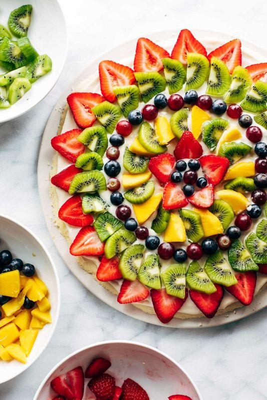 Get the Fruit Pizza recipe from Pinch of Yum