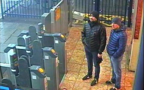 Both suspects at Salisbury train station at 4.11pm on March 3 - Credit: Metropolitan Police
