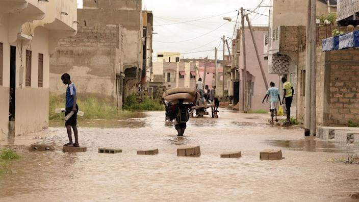 Meanwhile, on the other side of the continent, floods also hit Senegal's capital Dakar.