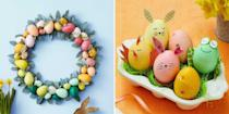 """<p>There are plenty of reasons to adore the <a href=""""https://www.womansday.com/easter/"""" rel=""""nofollow noopener"""" target=""""_blank"""" data-ylk=""""slk:Easter holiday"""" class=""""link rapid-noclick-resp"""">Easter holiday</a>. If you're religious, there's <a href=""""https://www.womansday.com/life/a32021271/easter-sunday-mass-stream/"""" rel=""""nofollow noopener"""" target=""""_blank"""" data-ylk=""""slk:Easter mass,"""" class=""""link rapid-noclick-resp"""">Easter mass,</a> the beautiful <a href=""""https://www.womansday.com/style/fashion/a19375288/what-to-wear-easter-sunday/"""" rel=""""nofollow noopener"""" target=""""_blank"""" data-ylk=""""slk:Easter church clothes"""" class=""""link rapid-noclick-resp"""">Easter church clothes</a>, and the pious meaning of the day. If you have children, there's the <a href=""""https://www.womansday.com/home/crafts-projects/g2216/easter-eggs/"""" rel=""""nofollow noopener"""" target=""""_blank"""" data-ylk=""""slk:Easter egg decorations"""" class=""""link rapid-noclick-resp"""">Easter egg decorations</a> and <a href=""""https://www.womansday.com/life/g30764979/adult-easter-egg-hunt-ideas/"""" rel=""""nofollow noopener"""" target=""""_blank"""" data-ylk=""""slk:Easter egg hunt"""" class=""""link rapid-noclick-resp"""">Easter egg hunt</a> shenanigans. And of course, there's the <a href=""""https://www.womansday.com/food-recipes/food-drinks/g2874/easter-dinner-ideas/"""" rel=""""nofollow noopener"""" target=""""_blank"""" data-ylk=""""slk:elaborate Easter feasts"""" class=""""link rapid-noclick-resp"""">elaborate Easter feasts</a> and <a href=""""https://www.womansday.com/food-recipes/food-drinks/g2234/easter-desserts/"""" rel=""""nofollow noopener"""" target=""""_blank"""" data-ylk=""""slk:delicious Easter desserts"""" class=""""link rapid-noclick-resp"""">delicious Easter desserts</a>. But if you really want to level-up your Easter celebration, try one (or all!) of these easy Easter crafts. </p><p>All you need are some simple art supplies, some snacks to keep you going, and a positive attitude to make these easy Easter art projects. Whether you're a veteran crafter or an art novice, there are more than a few craft ideas """