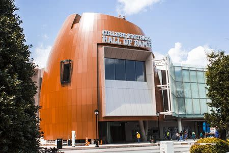 The exterior of the College Football Hall of Fame in Atlanta, Georgia is pictured in this undated handout photo courtesy of the College Football Hall of Fame. REUTERS/College Football Hall of Fame/Handout via Reuters