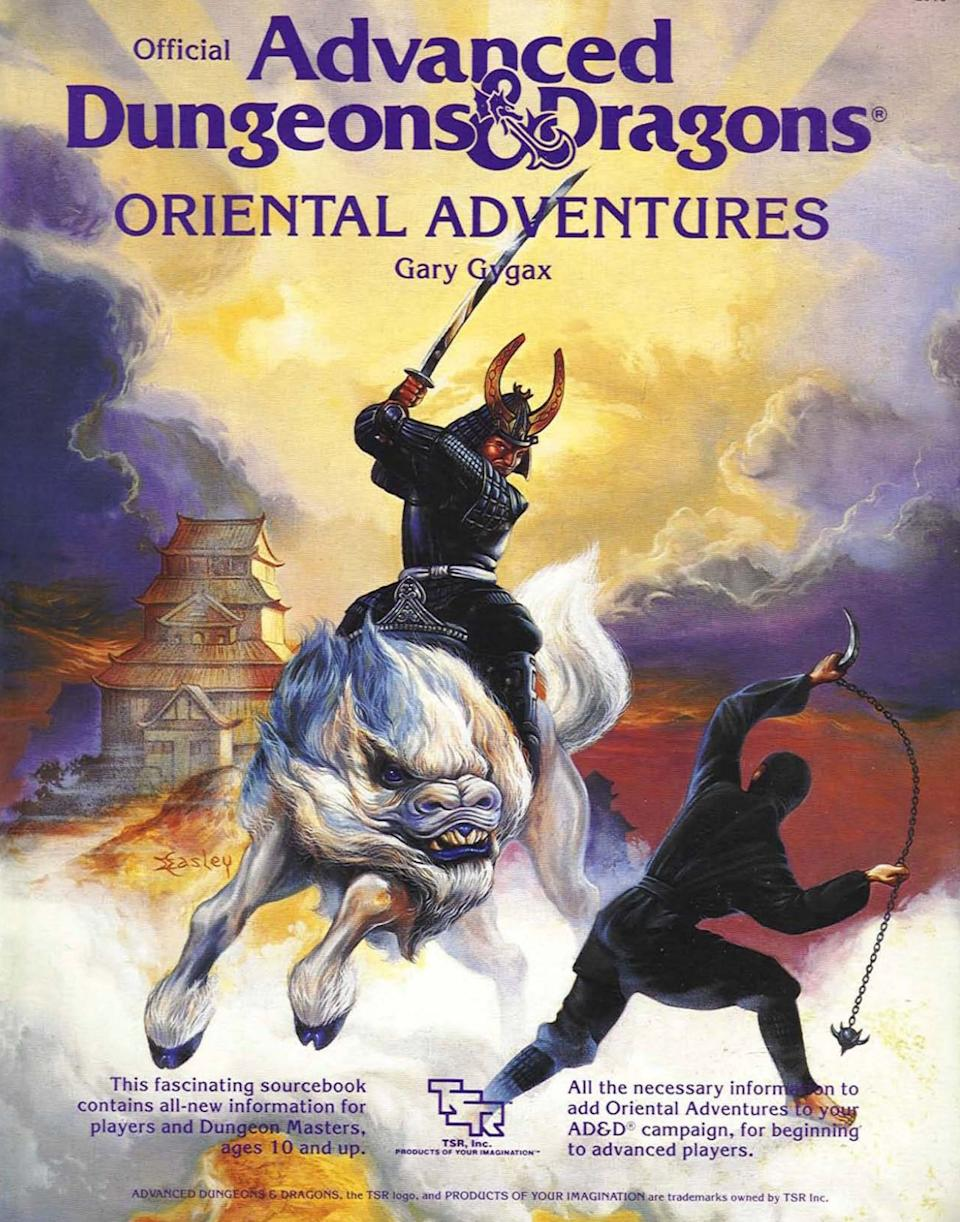 """The cover of the D&D """"Oriental Adventures"""" supplement, first released in 1985. (Photo: HuffPost US)"""