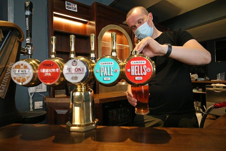 Pub group Marston's has seen trading rebound above levels seen before the pandemic struck thanks to the full lifting of restrictions in the summer (Jonathan Brady/PA) (PA Archive)