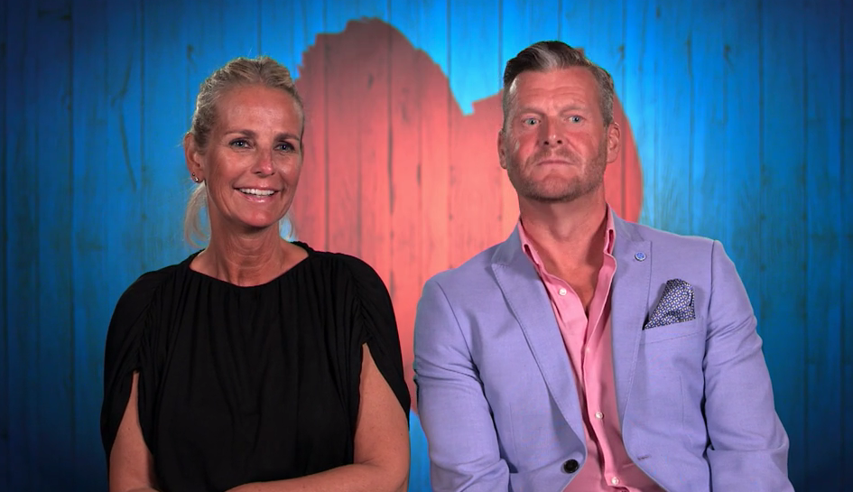 Ulrika Jonsson was partnered up with Paul on 'First Dates Hotel'. (Channel 4)