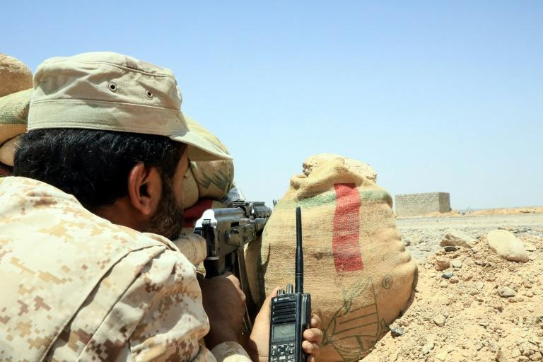 Fighters loyal to Yemen's Saudi-backed government have been battling a bloody Huthi offenisive on the Marib region as the rebels seek a key boost to their bargaining power in eventual peace talks