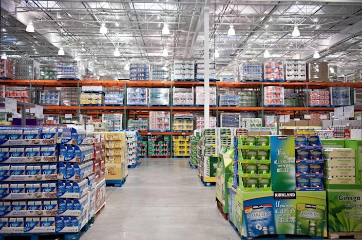 """<p>Product placement is everything and once you're a seasoned Costco shopper, you'll get the lay of the land. According to Lifehacker, the products in the middle aisles of the store have the <a href=""""https://lifehacker.com/shop-the-best-bargain-aisles-at-the-warehouse-club-or-d-744319294"""" rel=""""nofollow noopener"""" target=""""_blank"""" data-ylk=""""slk:highest prices because it is a high-traffic area"""" class=""""link rapid-noclick-resp"""">highest prices because it is a high-traffic area</a>. If you're hunting for a bargain, look around the edges of the stores. </p>"""