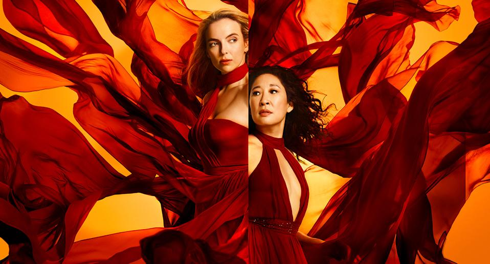 """Jodie Comer's Villanelle returned for a third season of <a href=""""https://uk.movies.yahoo.com/tagged/killing-eve/"""" data-ylk=""""slk:Killing Eve"""" class=""""link rapid-noclick-resp""""><em>Killing Eve</em></a> in 2020 as the cat and mouse game between her and Sandra Oh's Eve got more complicated. The series has already been renewed for a fourth outing but filming has been delayed because of the pandemic. (Sid Gentle/BBC)"""