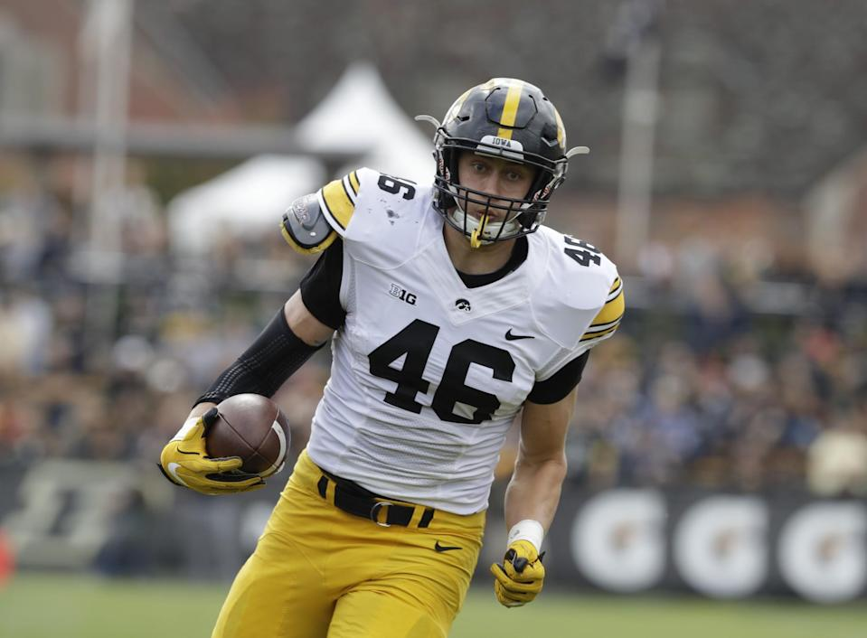 Iowa TE George Kittle has been hindered by injuries but has a skill set worth developing. (AP)