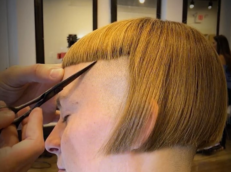This Hypnotizing Haircut With Blunt Bangs Is Like An Asmr Video