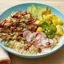 """<p>A grain bowl like Ree's Instant Pot BBQ chicken version is super easy to customize. Try topping rice, quinoa, or other grains with some refried beans and other taco fixings.<br></p><p><a href=""""https://www.thepioneerwoman.com/food-cooking/recipes/a35980475/instant-pot-bbq-chicken-grain-bowls-recipe/"""" rel=""""nofollow noopener"""" target=""""_blank"""" data-ylk=""""slk:Get Ree's recipe."""" class=""""link rapid-noclick-resp""""><strong>Get Ree's recipe. </strong></a></p>"""