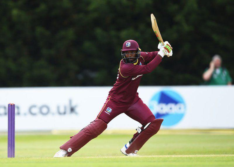 Sunil Ambris in action for West Indies