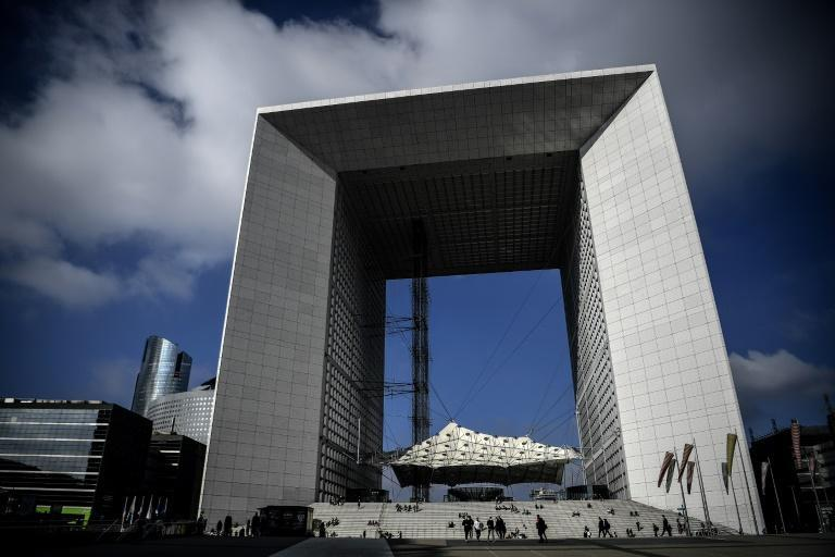 The Grande Arche at La Defense, a district hosting some 500 companies