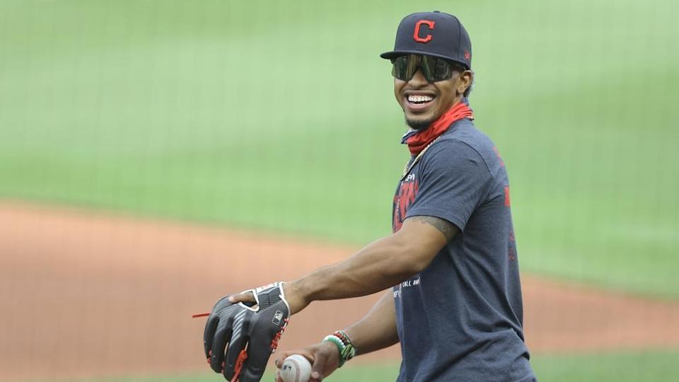 Francisco Lindor smiling