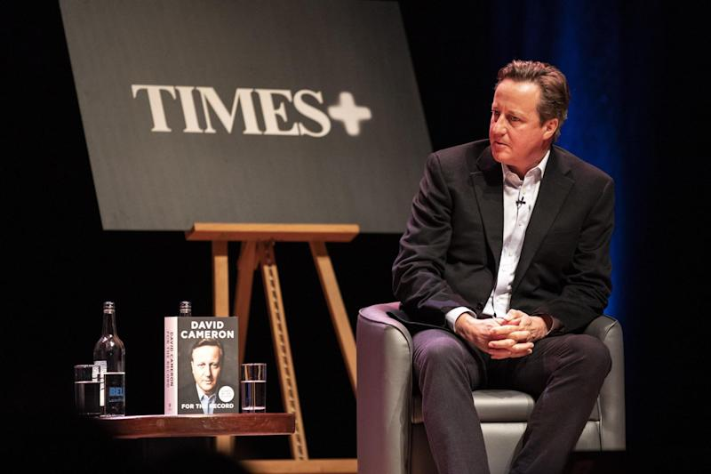 David Cameron, speaking at a special event sponsored by The Times newspaper at the Barbican centre in London, issued a warning to the PM: PA