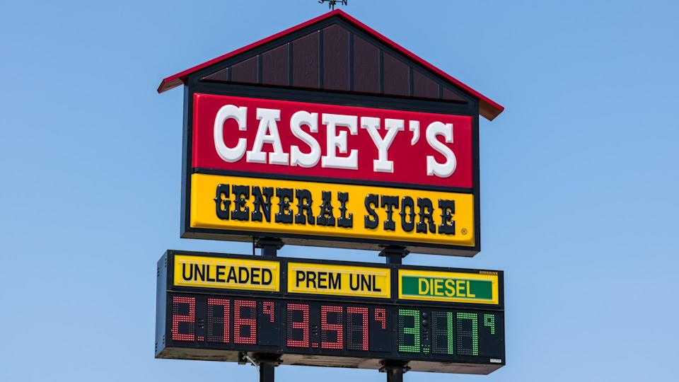 Peru - Circa August 2018: Casey's General Store Gas and Convenience Location I.