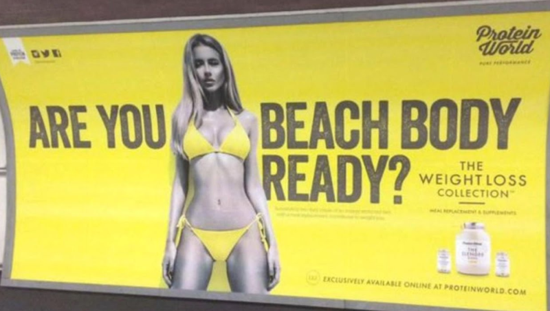 b5625a40025df The banned Protein Advert, which was circulated in 2015. [Photo: YouTube]