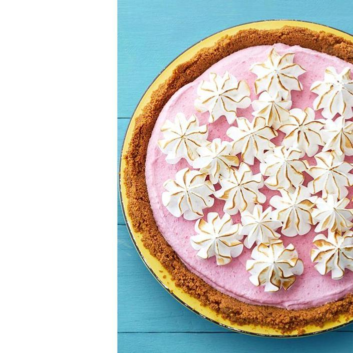 "<p>Experiment with the fruity flavors of spring with this raspberry meringue pie. It's a delicious take on the traditional ice cream cake. </p><p><em><a href=""https://www.womansday.com/food-recipes/food-drinks/recipes/a58997/frozen-raspberry-meringue-pie-recipe/"" rel=""nofollow noopener"" target=""_blank"" data-ylk=""slk:Get the recipe for Frozen Raspberry Meringue Pie."" class=""link rapid-noclick-resp"">Get the recipe for Frozen Raspberry Meringue Pie. </a></em></p>"