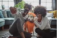 """<p>Even if Halloween is still weeks away (or if you missed the window!) costumes make a fun stay-at-home activity beyond that one night. Get the dog or the kiddos in on the fun and don't forget to have a photo shoot for the 'gram. </p><p><strong>RELATED:</strong> <a href=""""https://www.goodhousekeeping.com/holidays/halloween-ideas/g2625/halloween-costumes-for-couples/"""" rel=""""nofollow noopener"""" target=""""_blank"""" data-ylk=""""slk:80 Best Couple Halloween Costumes to Prove That You're the Most Creative Duo"""" class=""""link rapid-noclick-resp"""">80 Best Couple Halloween Costumes to Prove That You're the Most Creative Duo</a></p>"""