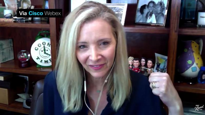 Lisa Kudrow, durante su conversación con Jimmy Kimmel. (Photo: JIMMY KIMMEL SHOW)