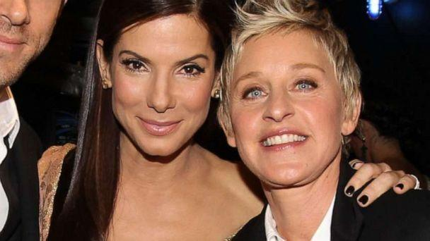 PHOTO: Sandra Bullock and Ellen DeGeneres pose backstage during the People's Choice Awards 2010 held at Nokia Theatre L.A. Live on Jan. 6, 2010 in Los Angeles. (Christopher Polk/Getty Images, FILE)
