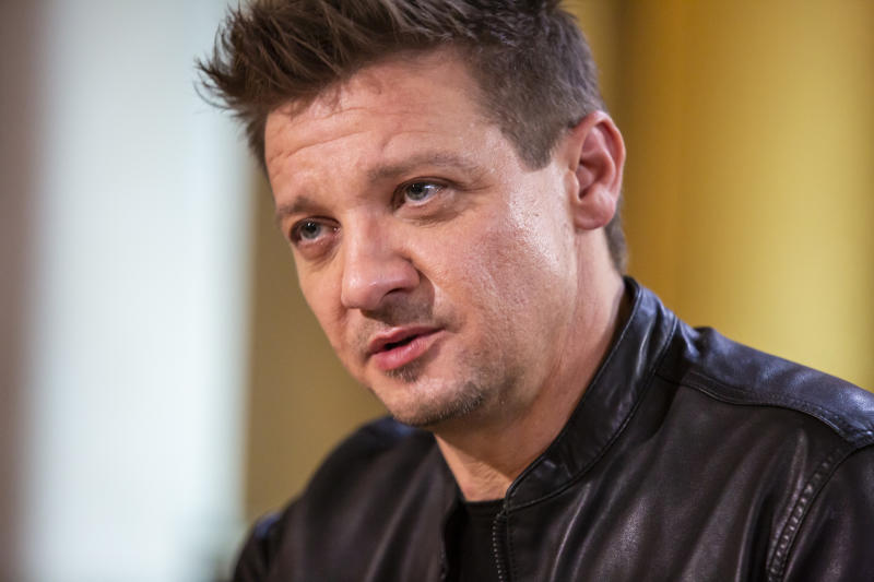 SUNDAY TODAY WITH WILLIE GEIST -- Pictured: Jeremy Renner on April 28, 2019 -- (Photo by: Mike Smith/NBC/NBCU Photo Bank via Getty Images)