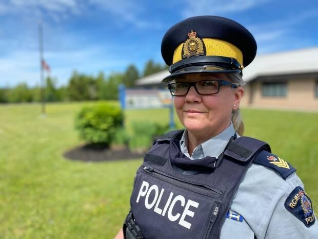 RCMP Sgt. Leanne Butler said Kings District RCMP will be investigating the damage as a crime that could have been racially motivated. (Jane Robertson/CBC - image credit)