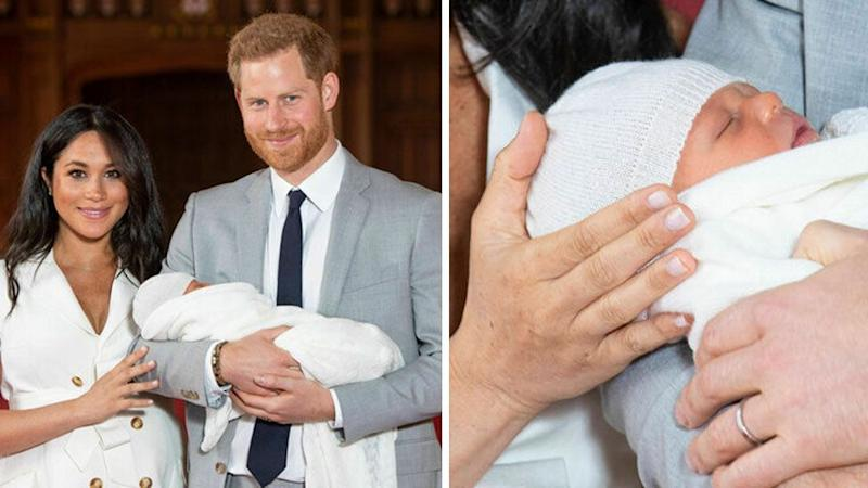 Prince Harry and Meghan with Master Archie