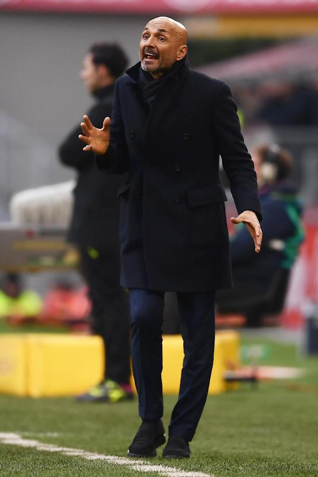 Under pressure: Inter Milan coach Luciano Spalletti (AFP Photo/MARCO BERTORELLO)