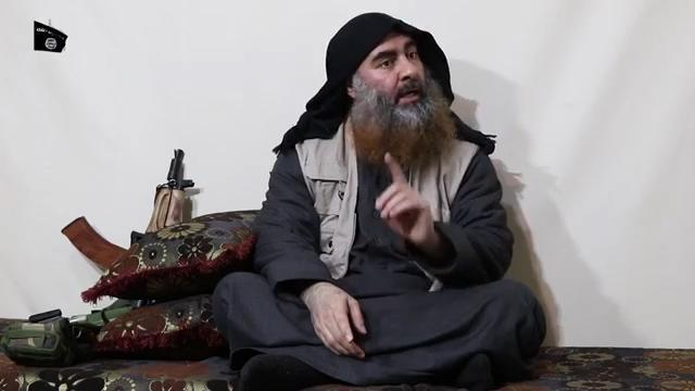 The Islamic State group's elusive leader Abu Bakr al-Baghdadi resurfaced in a propaganda video, his first purported appearance since 2014 (AFP Photo/-)