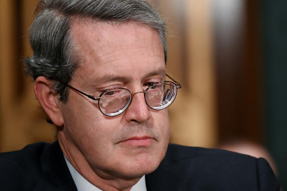 Randal K. Quarles, vice chairman of the Federal Reserve Board of Governors, testifies before a Senate Banking, Housing and Urban Affairs Committee hearing on