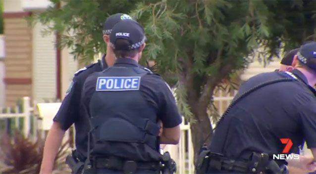 Police say two children were inside the home at the time. Picture: 7 News