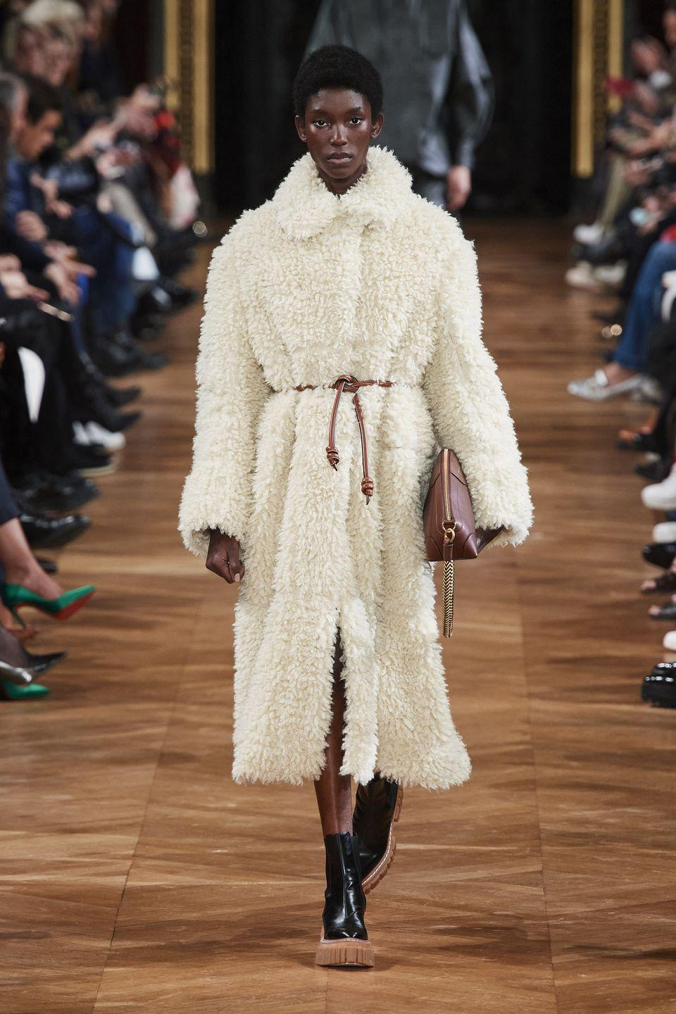 <p>You'll feel like you can take on any kind of winter weather—blizzards! snow! icy wind!—in these plush textured coats.</p><p><em>Stella McCartney</em></p>