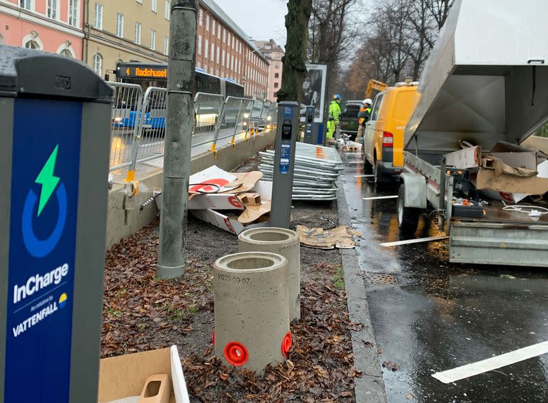 Electric vehicle charging in Stockholm