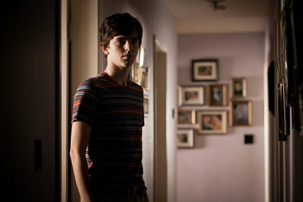 "Freddie Highmore as Norman Bates in A&E's ""Bates Motel"" coming in March 2013."
