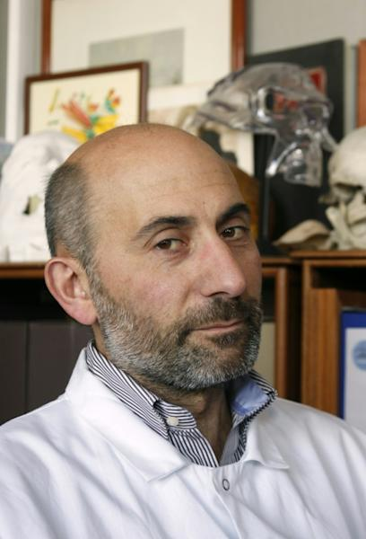 Face transplant specialist Laurent Lantieri, seen here at the Henri Mondor hospital in Creteil in 2010, the year he first operated on Hamon
