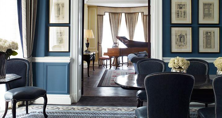 """<p><span>Got a spare</span><b> £8,400</b><span>? You could spend it on a night in the Royal Suite at <a href=""""http://www.claridges.co.uk"""" rel=""""nofollow noopener"""" target=""""_blank"""" data-ylk=""""slk:this hotel"""" class=""""link rapid-noclick-resp"""">this hotel</a>, which is a firm favourite with royalty, celebrities and fashionistas. A grand piano, beautifully carved fireplace and personal butler await, and if you're heading to Heathrow, you'll get whisked there in a Mercedes S-Class. The building was designed by the same architect who built Harrods and there's Art Deco décor and classic style in spades.</span> </p>"""