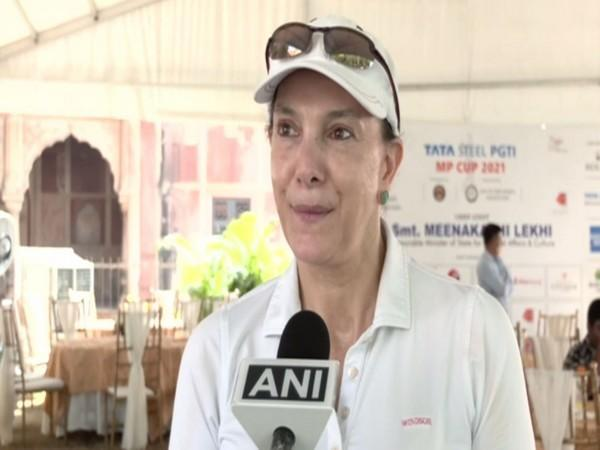 Colombian Ambassador to India Mariana Pacheco speaking with ANI on Saturday.