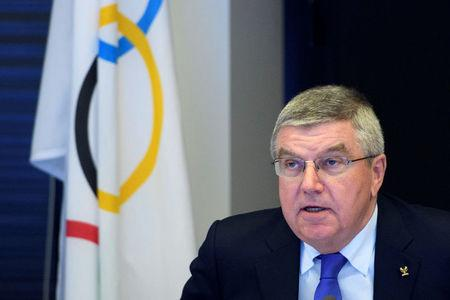 International Olympic Committee (IOC) president Thomas Bach from Germany speaks prior to the opening of the first day of the executive board meeting of the International Olympic Committee (IOC) at the IOC headquarters, in Pully near Lausanne, Switzerland December 5, 2017. REUTERS/Pool/Laurent Gillieron