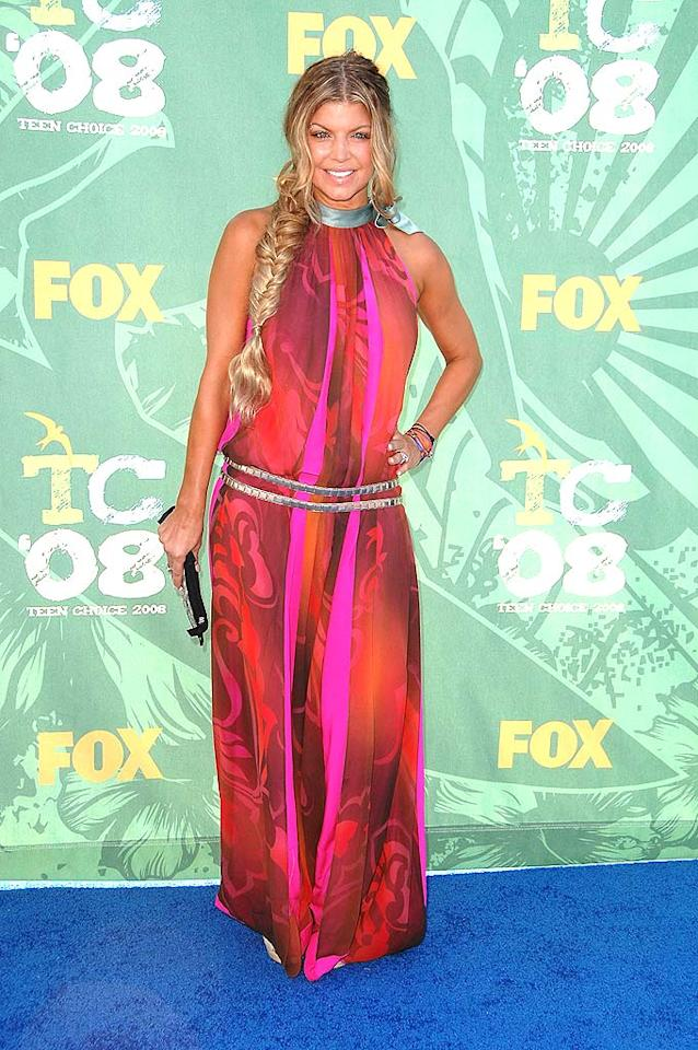 "Fergie was flawless in a radiant floor length halter dress. Steve Granitz/<a href=""http://www.wireimage.com"" target=""new"">WireImage.com</a> - August 3, 2008"