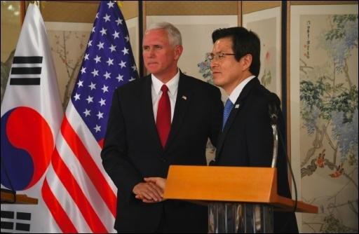 Pence und Hwang in Seoul