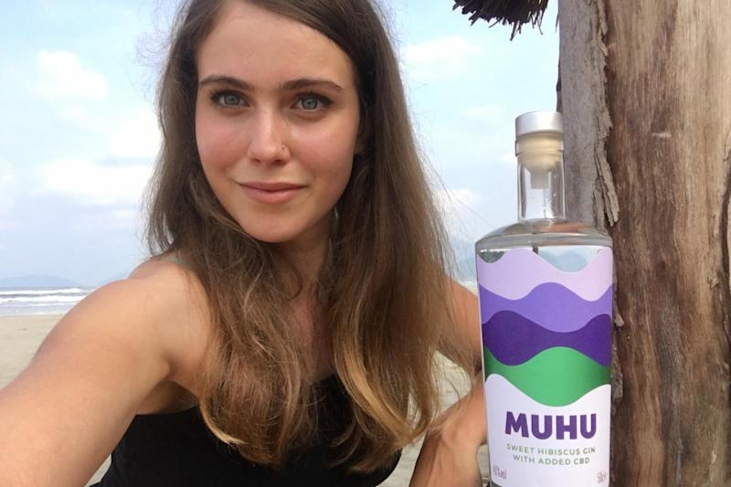 A 24-year-old has launched gin infused with CBD on a budget of £1,300: MUHU