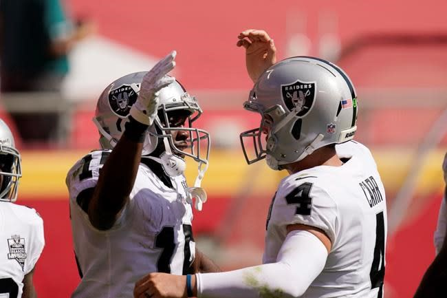 Speedy WRs help Carr bring back vertical game to Raiders