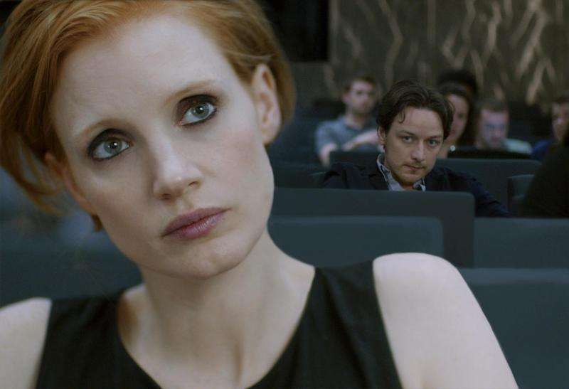 Jessica Chastain and James McAvoy in
