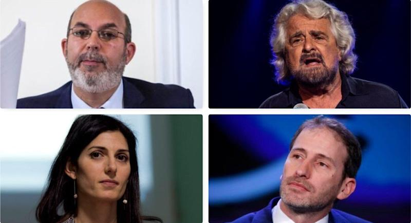 Vito Crimi, Beppe Grillo, Davide Casaleggio e Virginia Raggi (Photo: Getty )